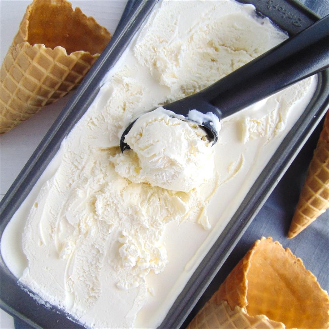 Easy No-Churn Vanilla Ice Cream
