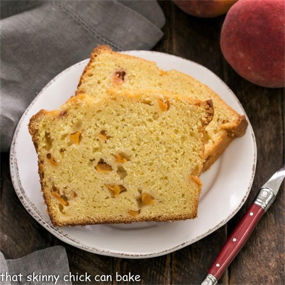 Glazed Peach Pound Cake