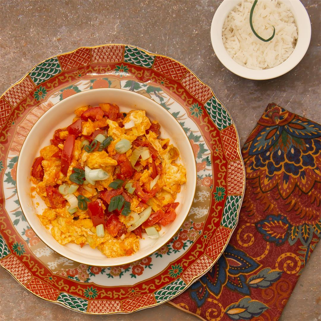 Chinese Stir-Fried Tomatoes and Eggs
