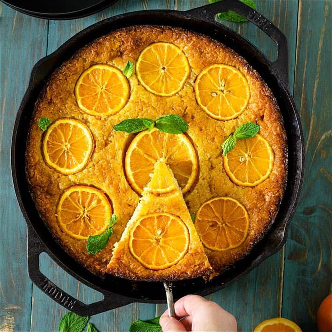 Greek Skillet Orange Fillo Cake