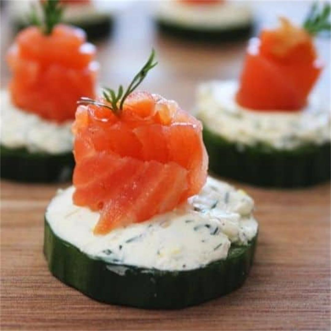 Cucumber Salmon Bites - It's Not Complicated Recipes