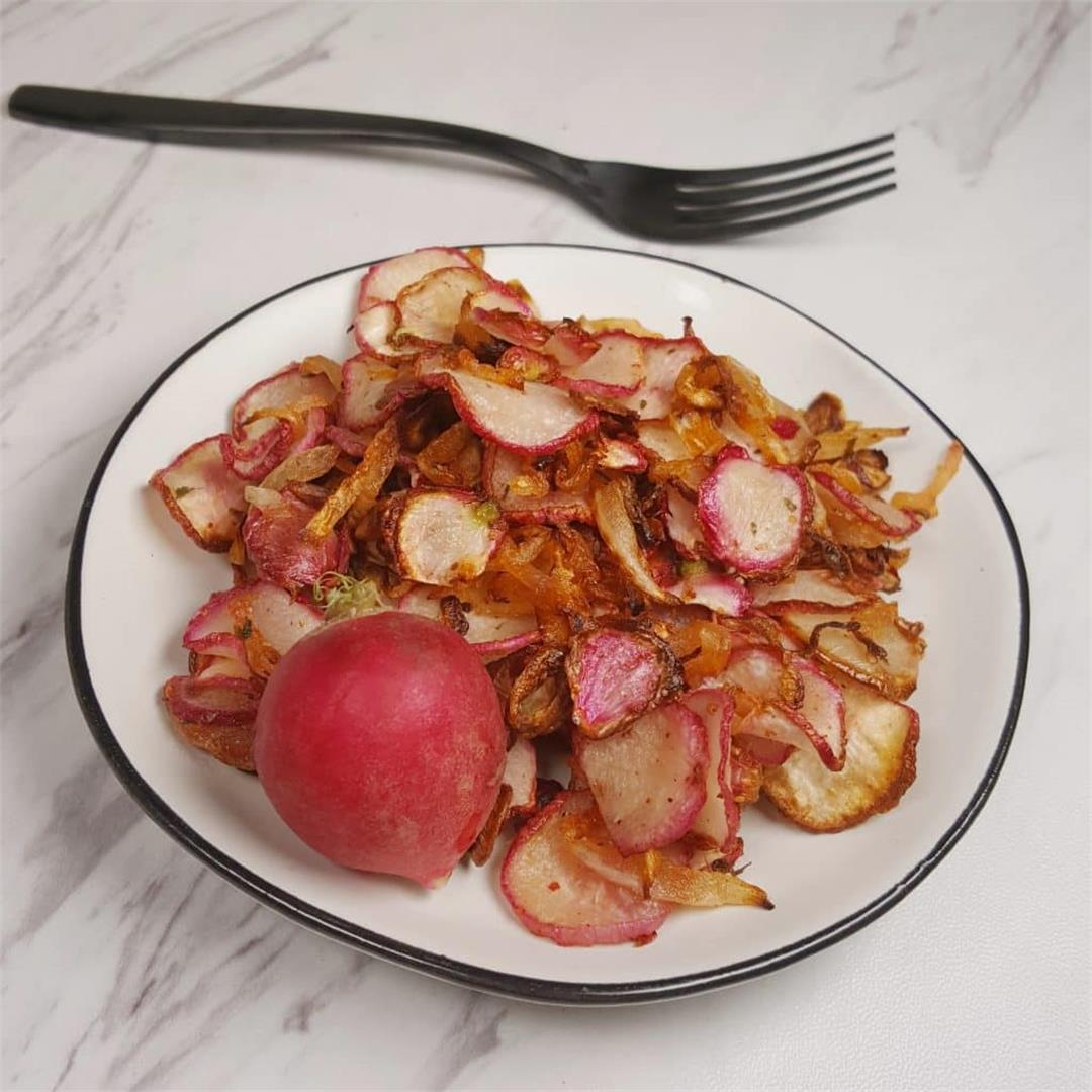 Air Fryer Radish Hash Browns/Home Fries Low Carb, Keto, GF