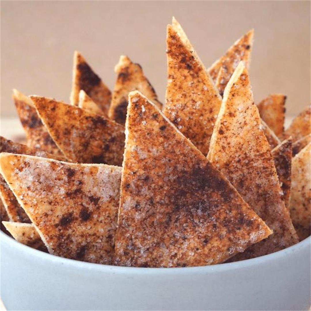 Cinnamon sugar pita chips