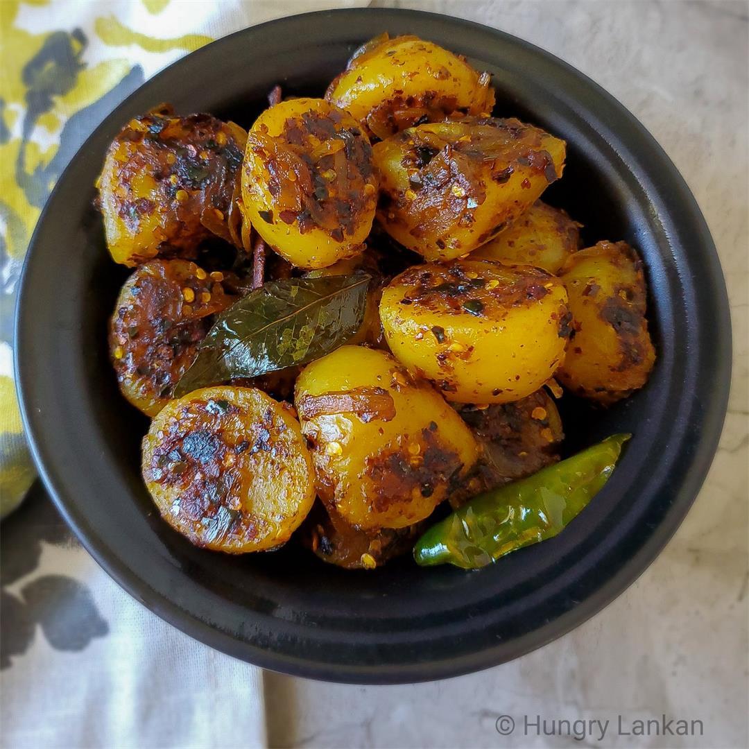 Sri Lankan potato fry (Ala thel dala)