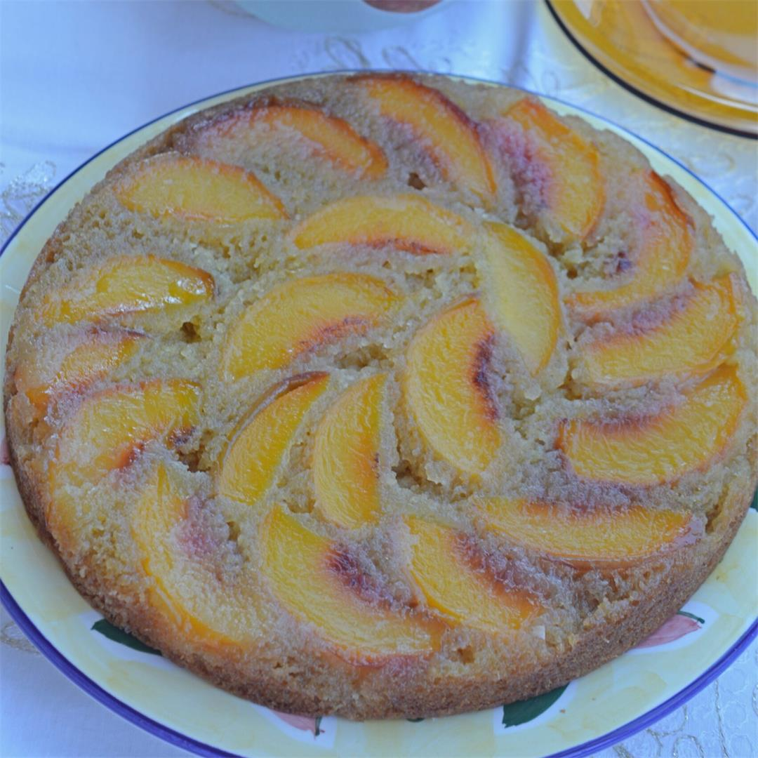 Upside Down Peach Cake — Tasty Food for Busy Mums