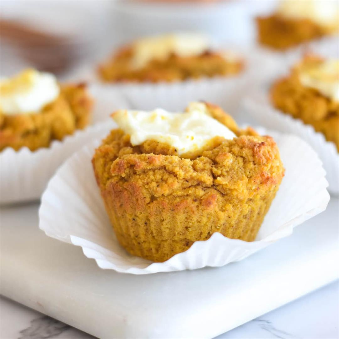Keto Pumpkin Cream Cheese Muffins — Foodborne Wellness