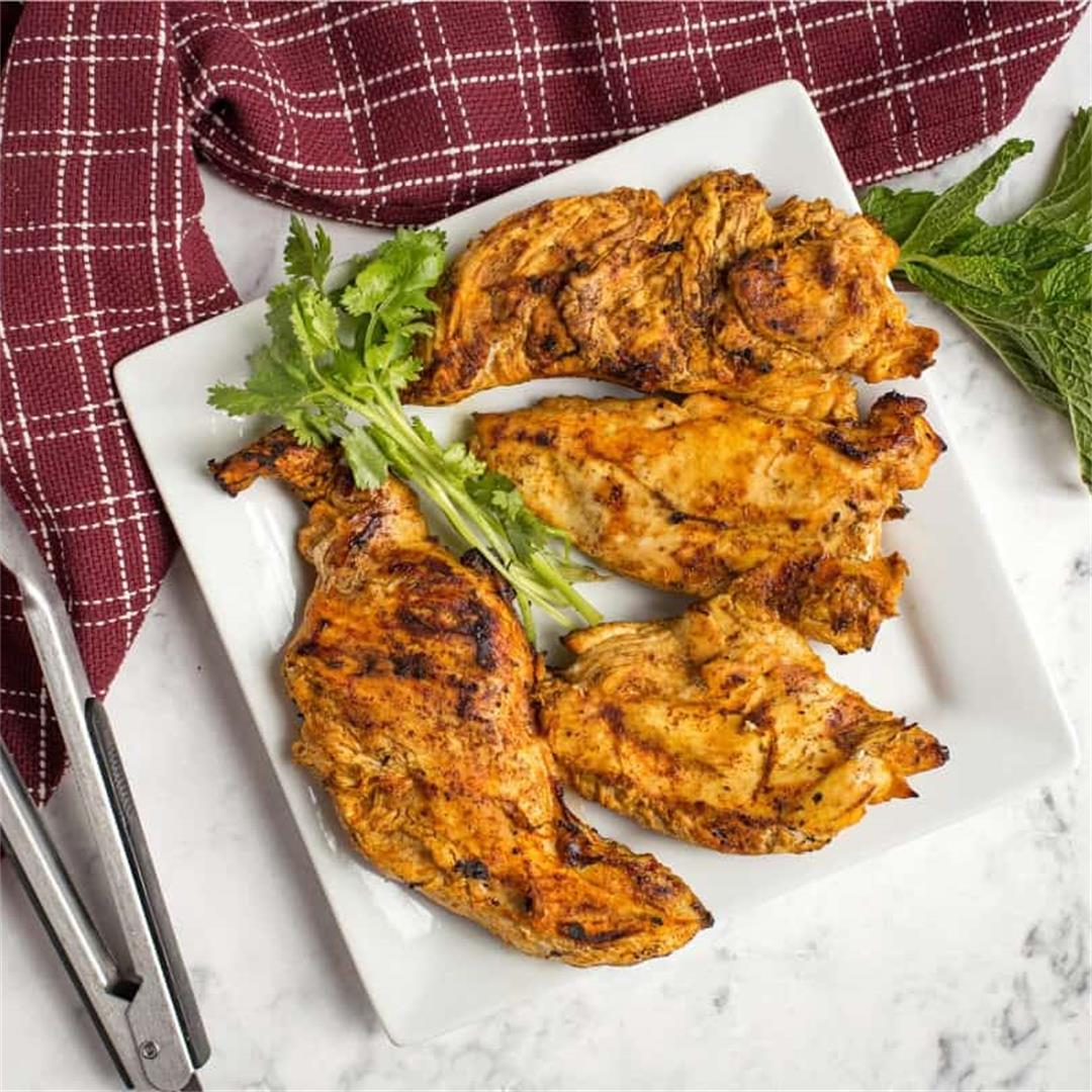 Grilled Moroccan Chicken Breasts