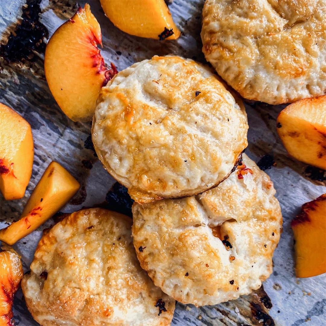 Individual Peach Pies made with Fresh Peaches