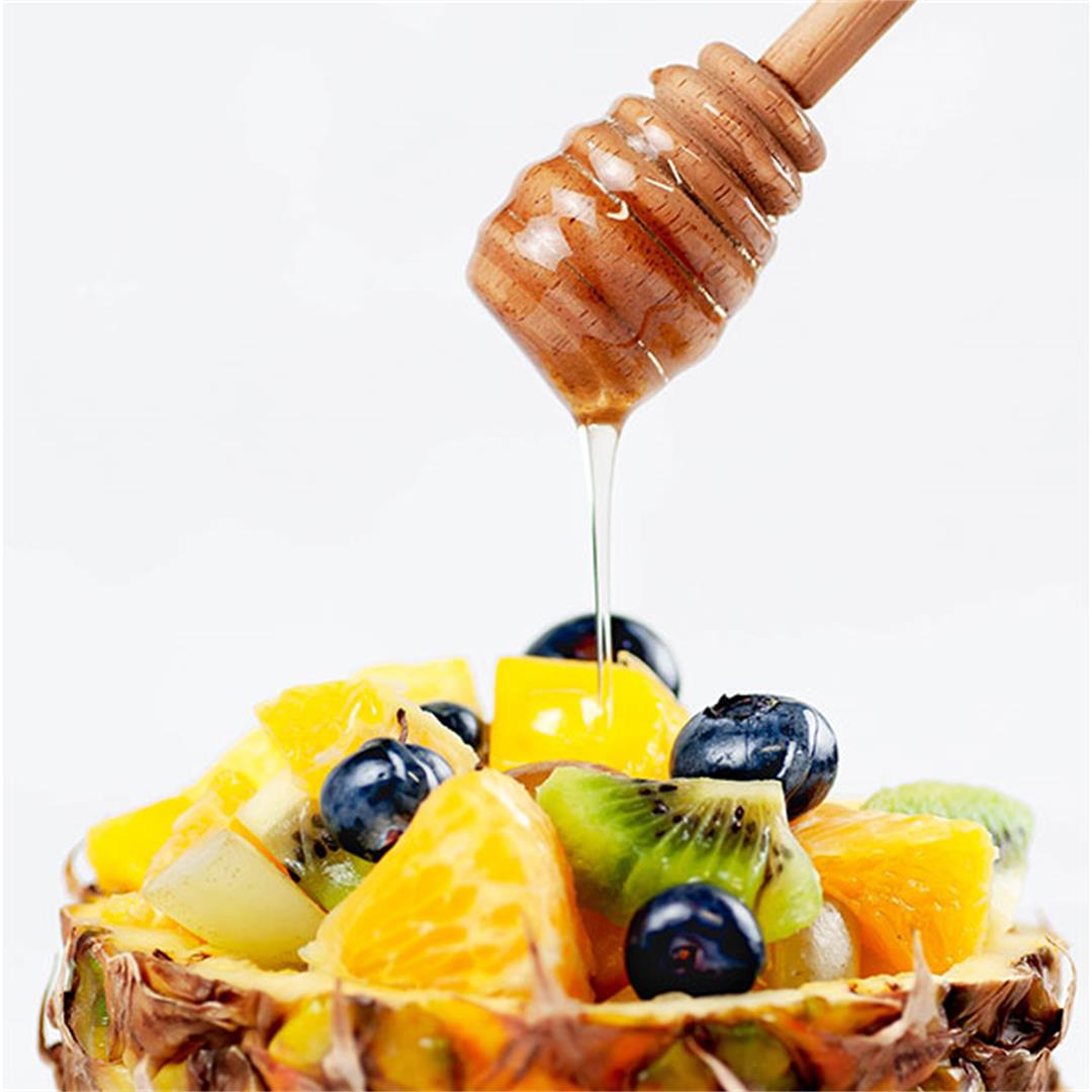 Tropical Pineapple Fruit Salad in a Pineapple Boat - The Best E