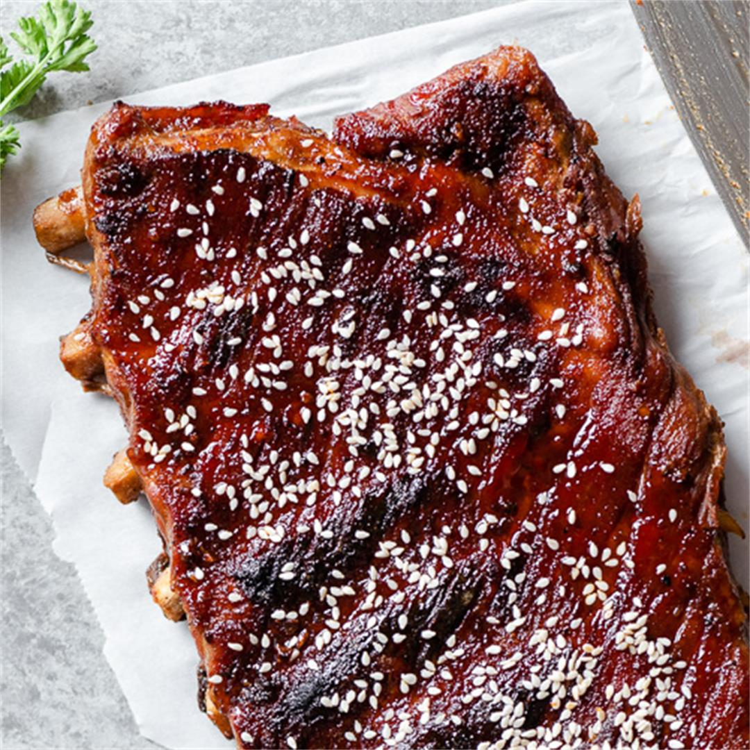 Sticky-Sweet Pork Ribs (on the Grill or in the Oven)