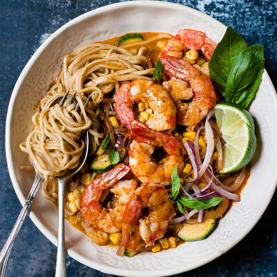 Quick and Easy Prawn Curry (Aldi Ingredients)