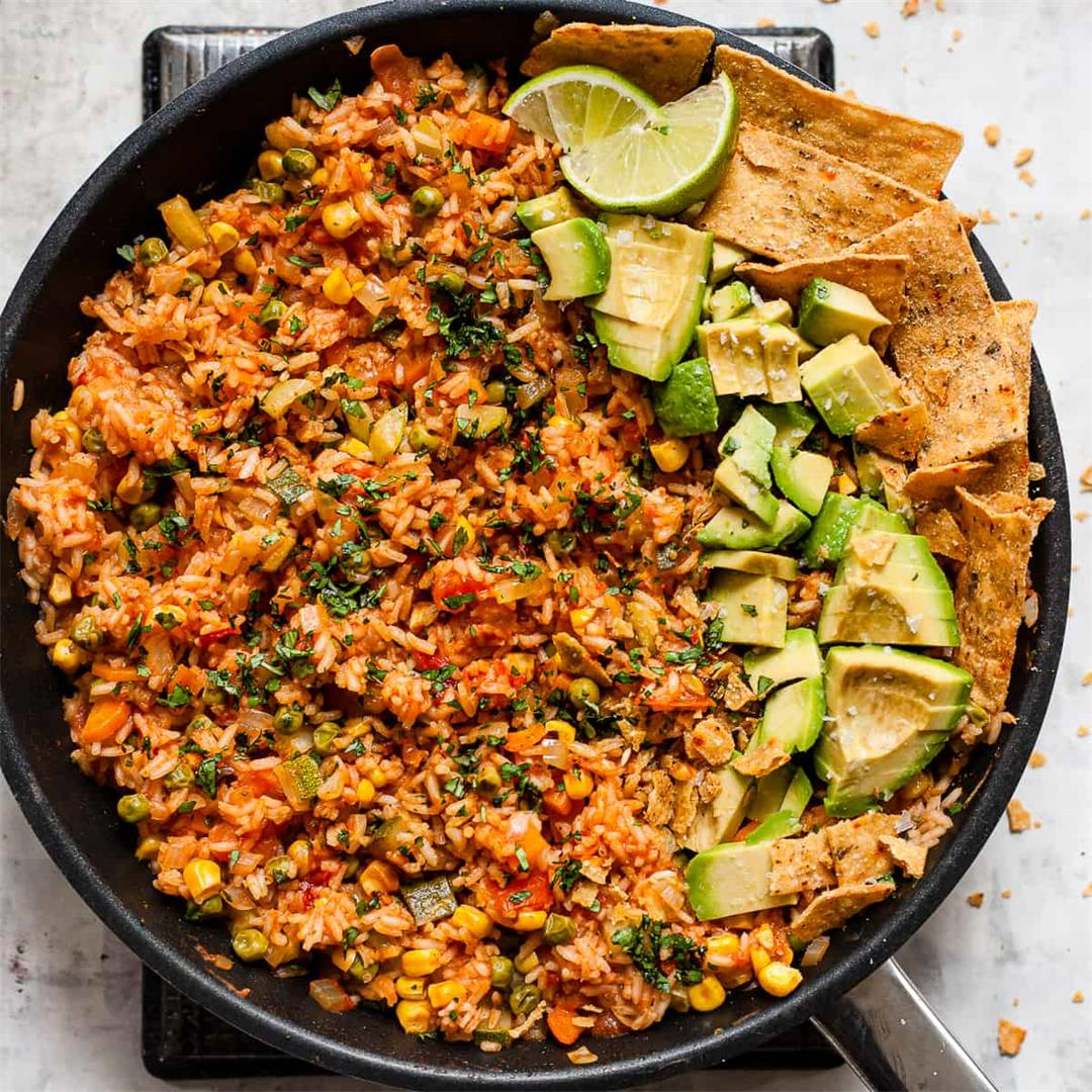 Easy One Pot Mexican Rice (Aldi Ingredients)