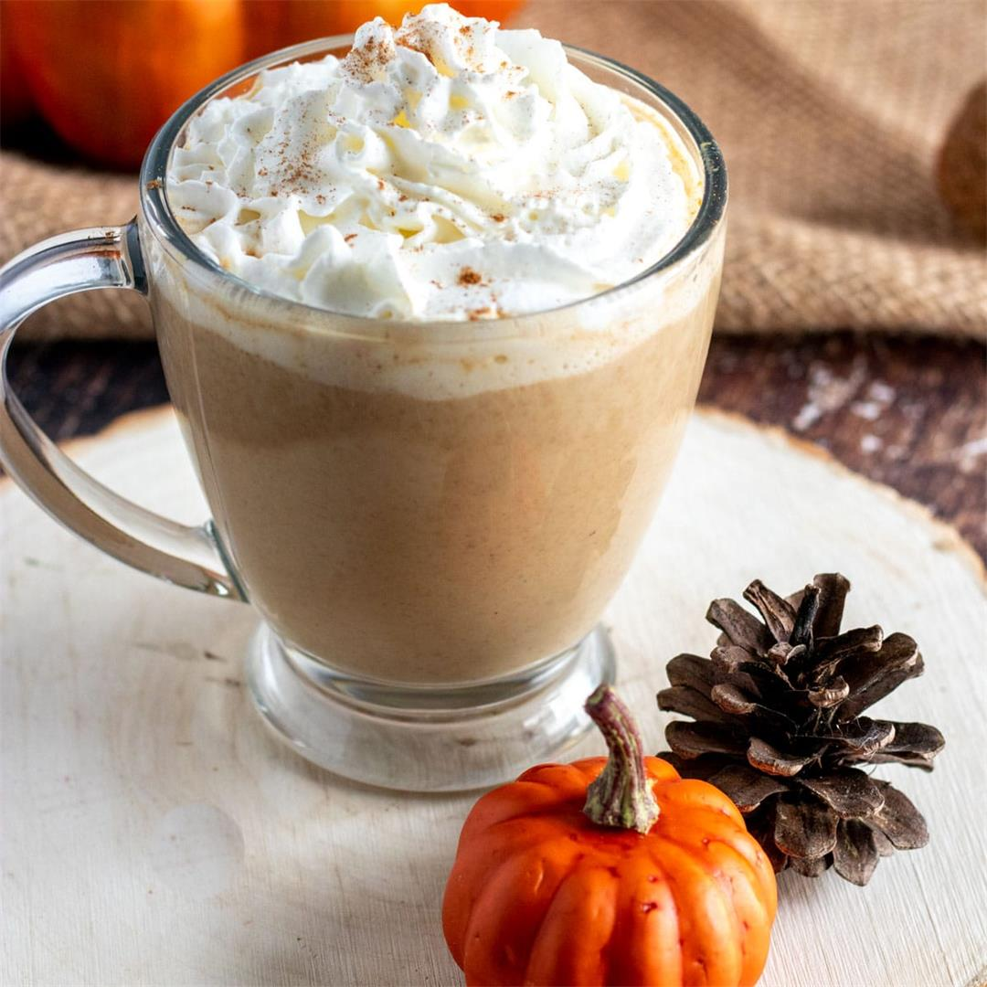 Homemade Pumpkin Spice Latte Recipe