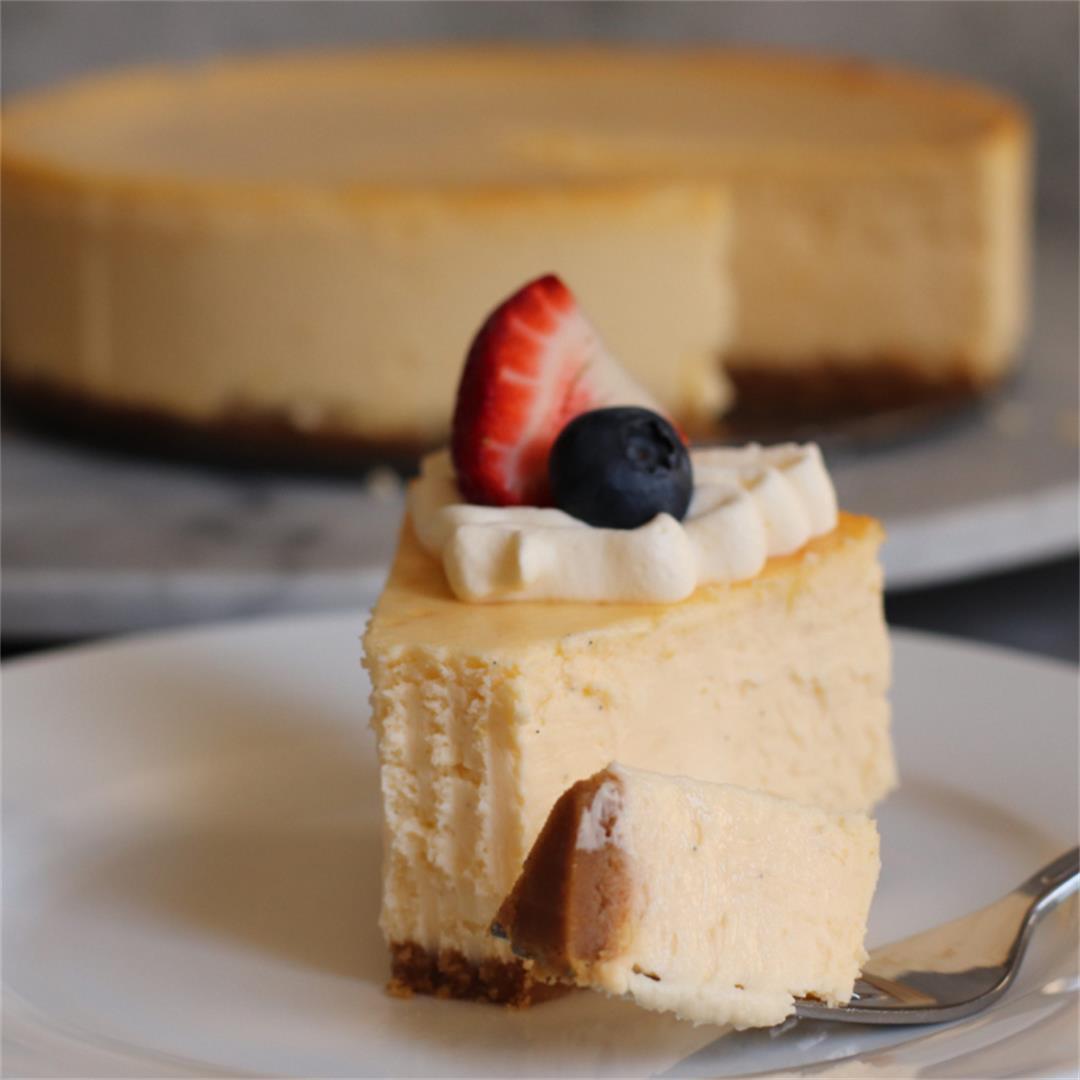 Smooth and Creamy New York Cheesecake (No Water Bath)