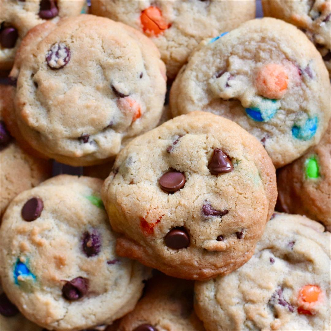 The Best Chewy Rainbow Chocolate Chip Cookies