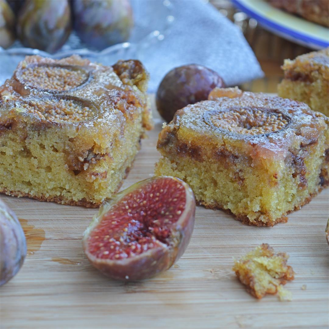 Fig & Chocolate Chip Traybake