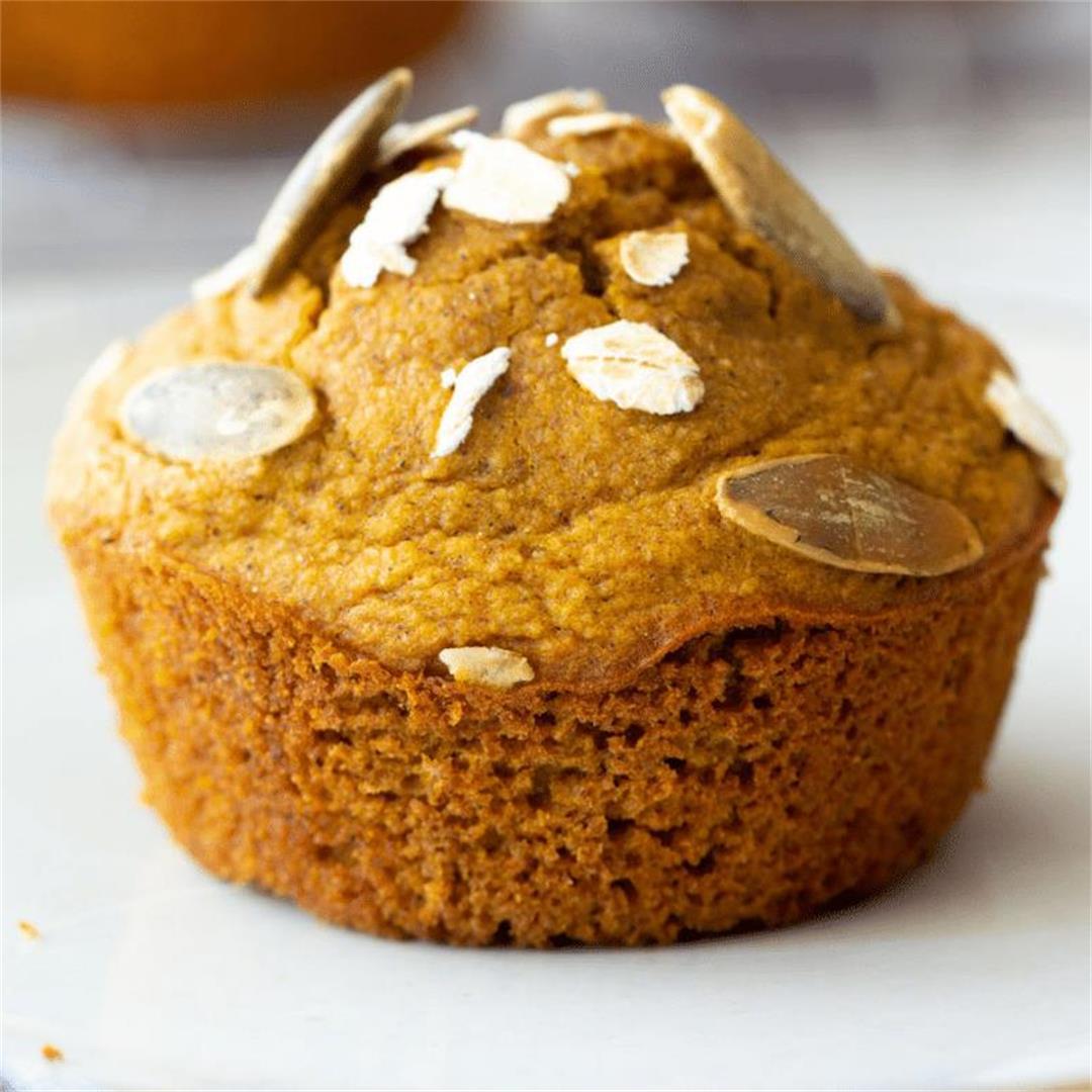 Oat Flour Pumpkin Muffins