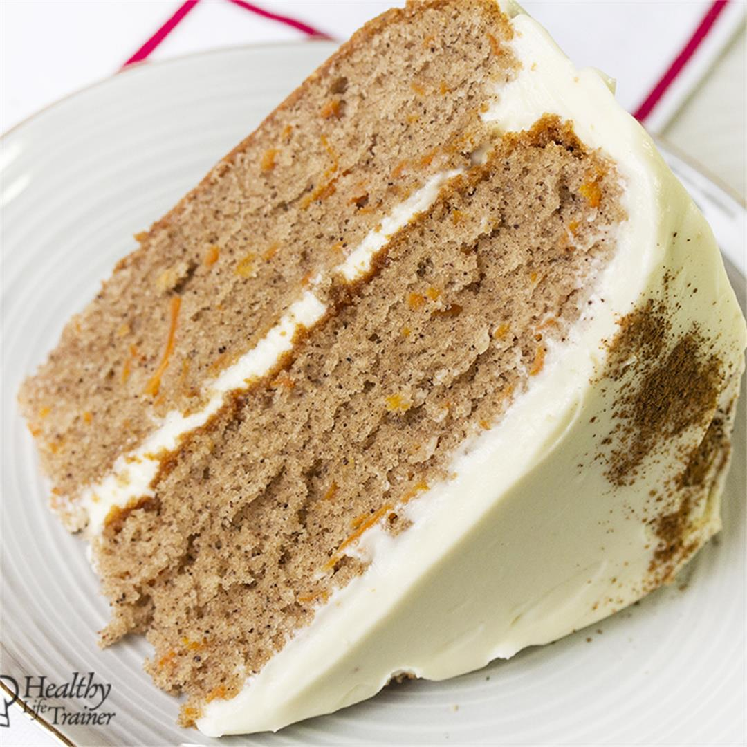 Carrot Cake With Cream Cheese Frosting-Healthy life Trainer