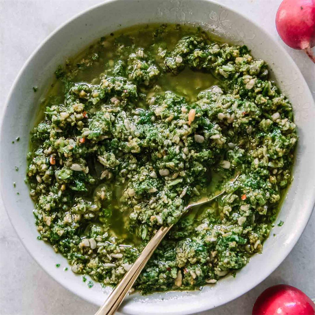 Radish Greens Pesto Sauce