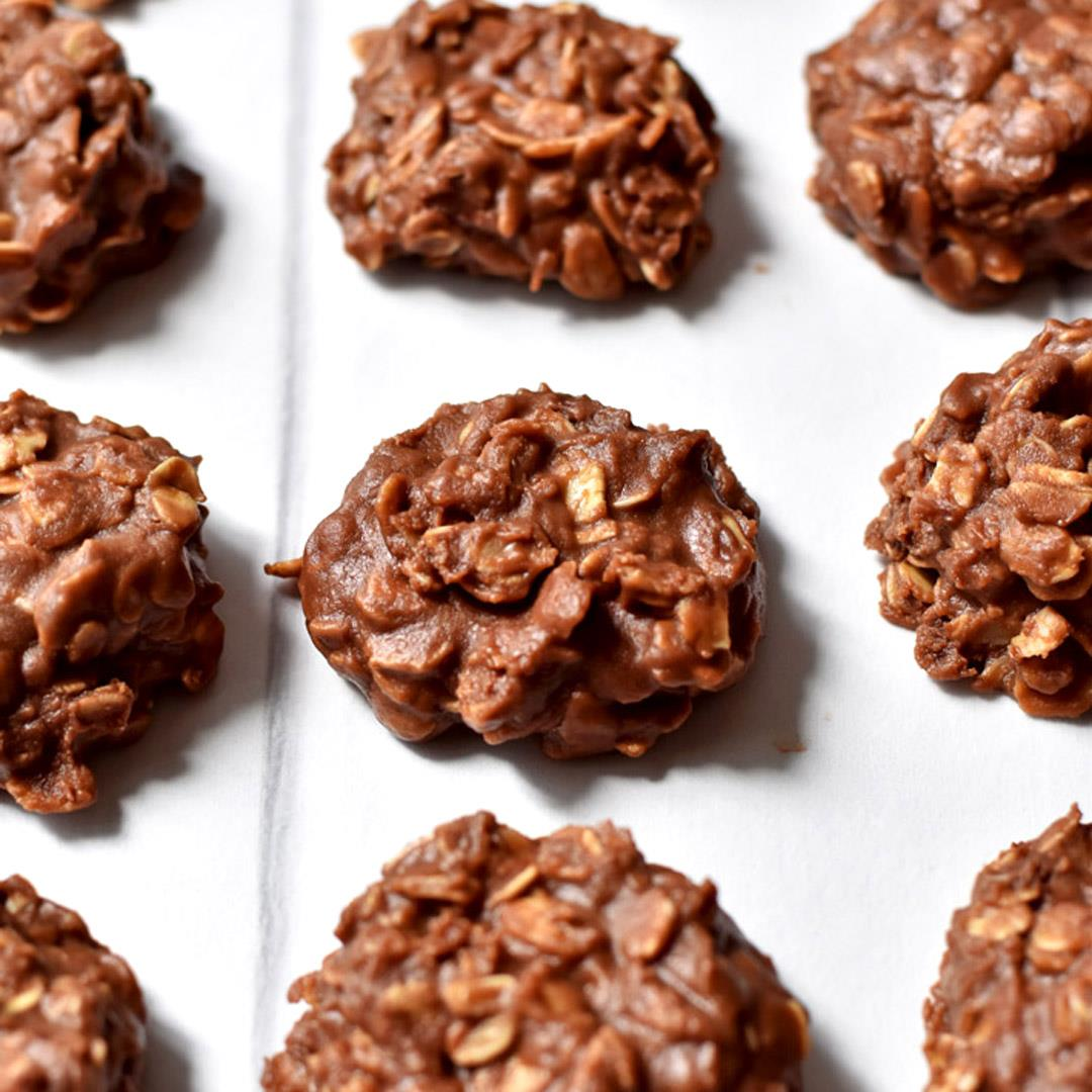No Bake Cookies with Chocolate Chips (Gluten Free)
