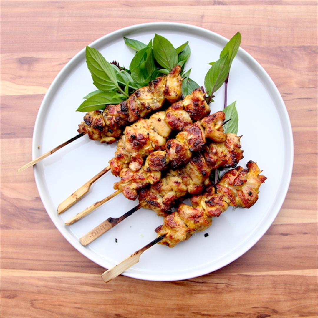 Charcoal Chicken Satay