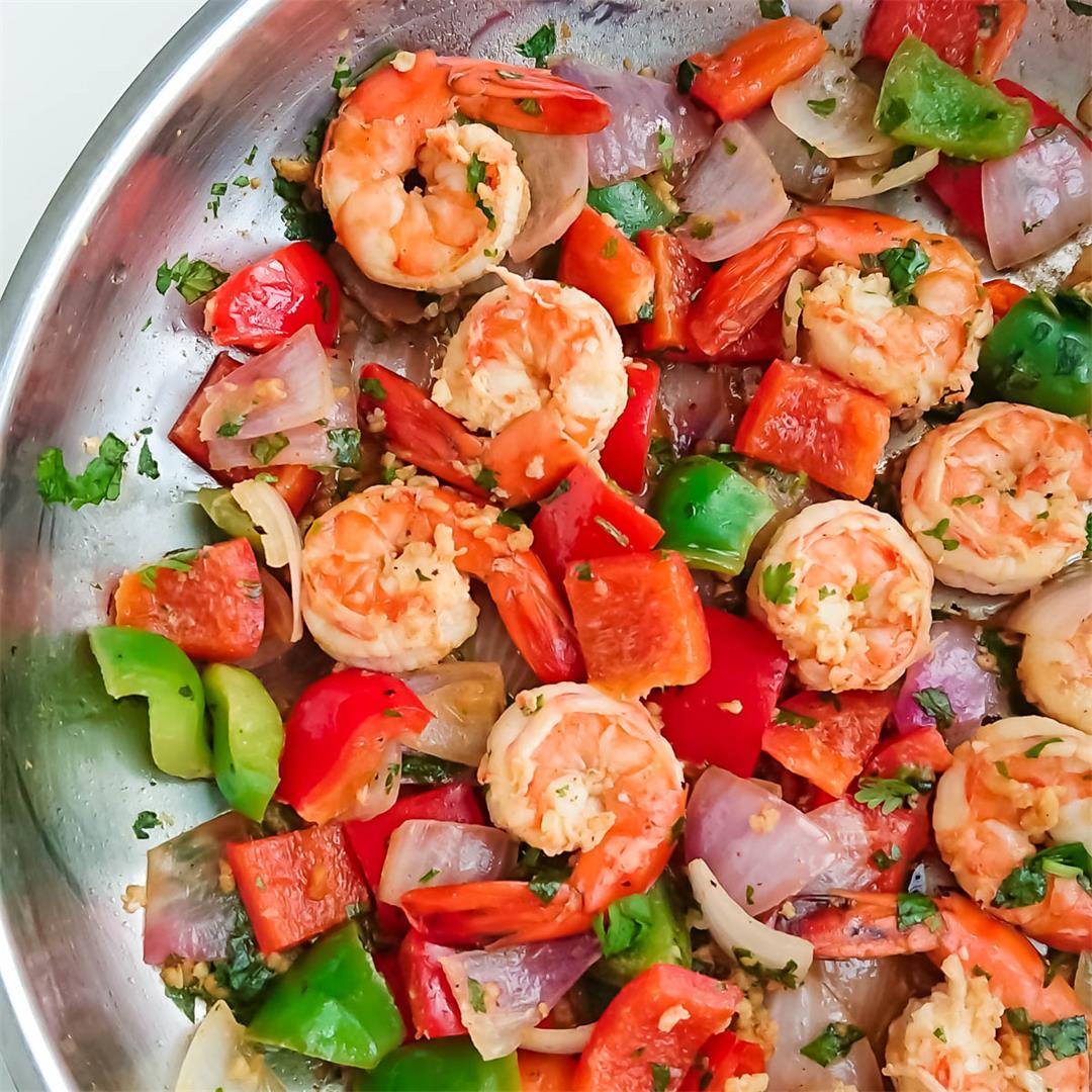 5 ingredient easy recipe for lemon garlic shrimps/ garlic prawn