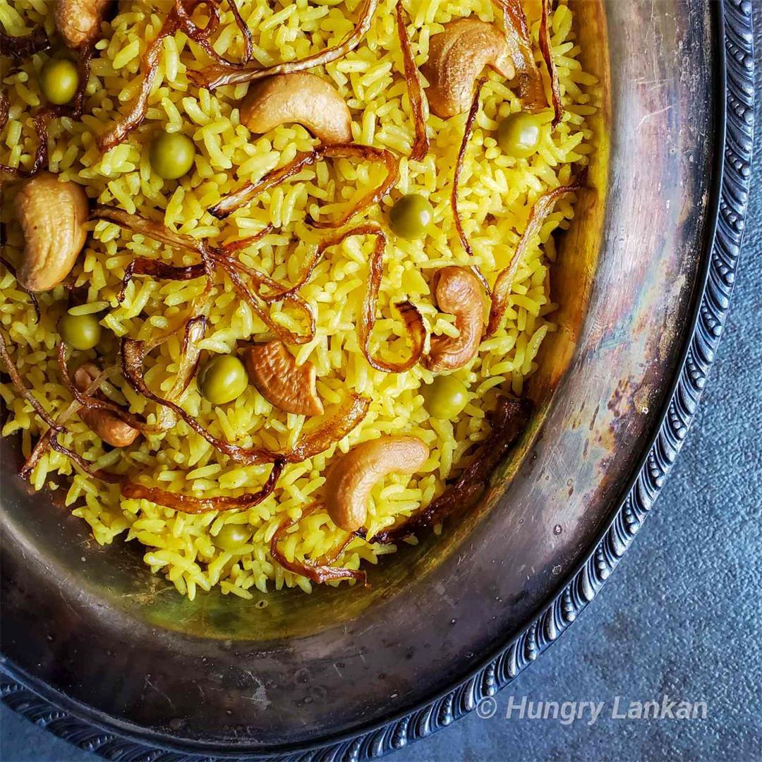 Easy Sri Lankan Yellow Rice
