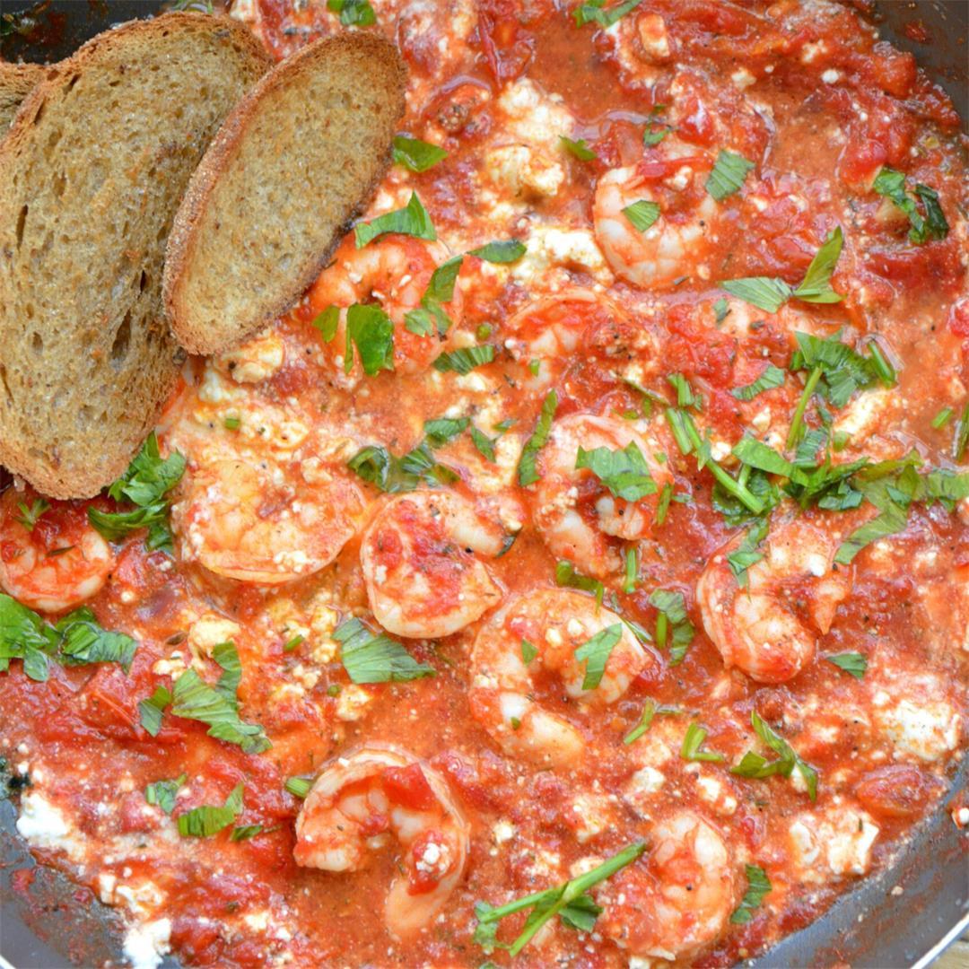 Shrimp Saganaki Style — Tasty Food for Busy Mums