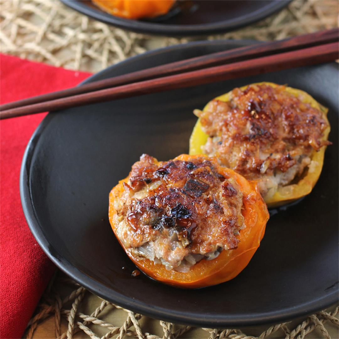 Pan-Roasted Tomatoes Stuffed with Pork