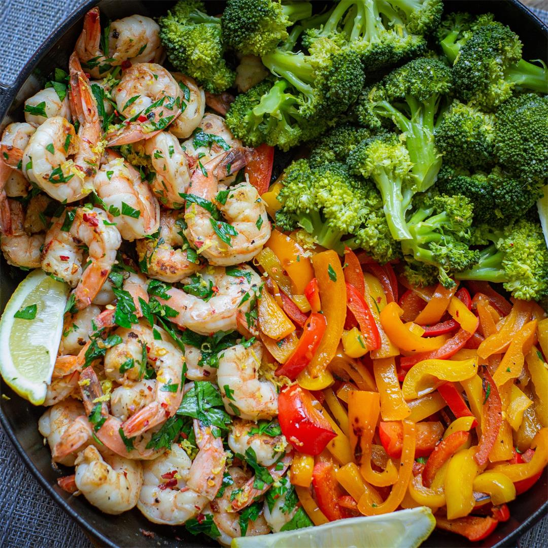 Lemon Garlic Shrimp with Veggies