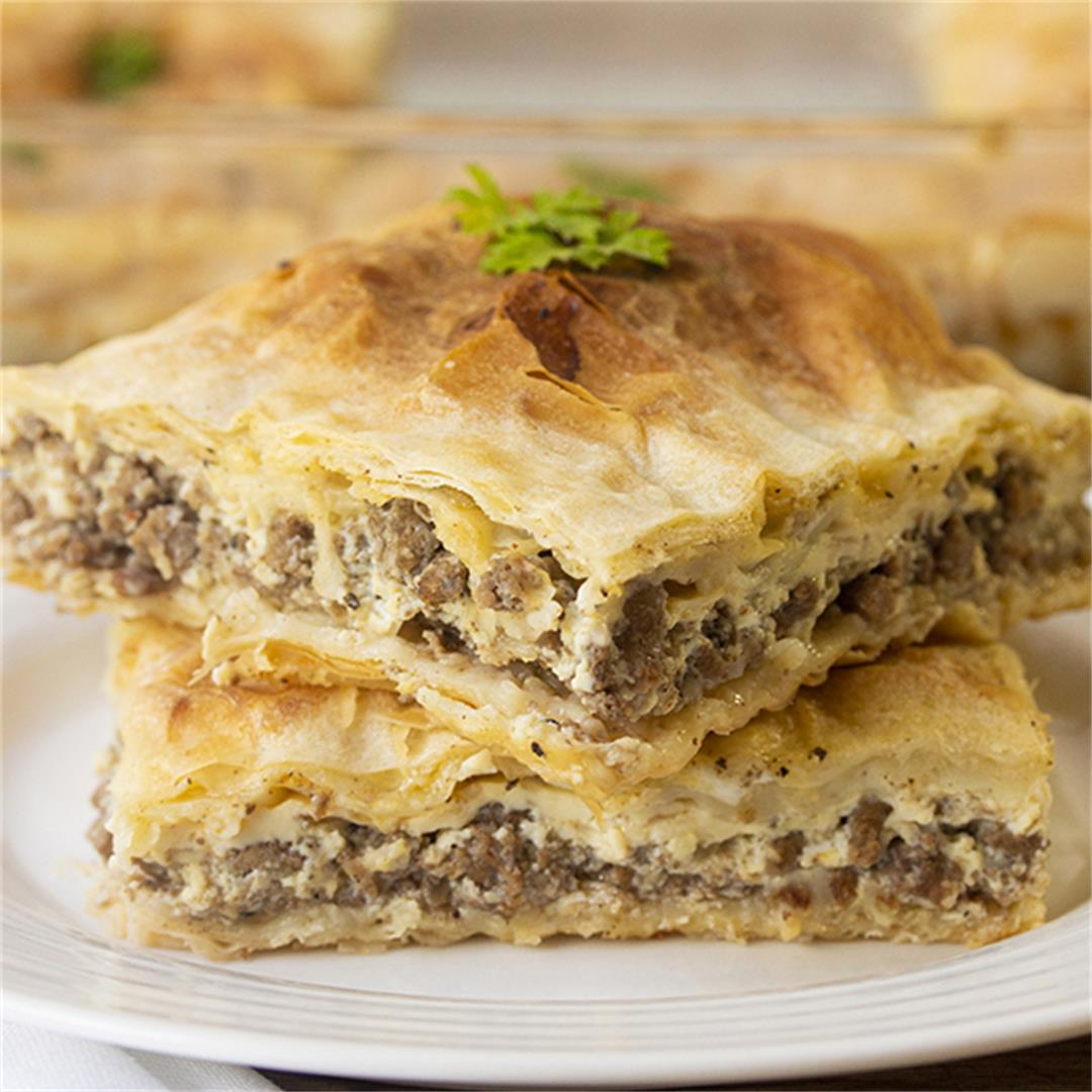 Meat Pie With Phyllo Crust (Egyptian Goulash)-Healthy life Trai