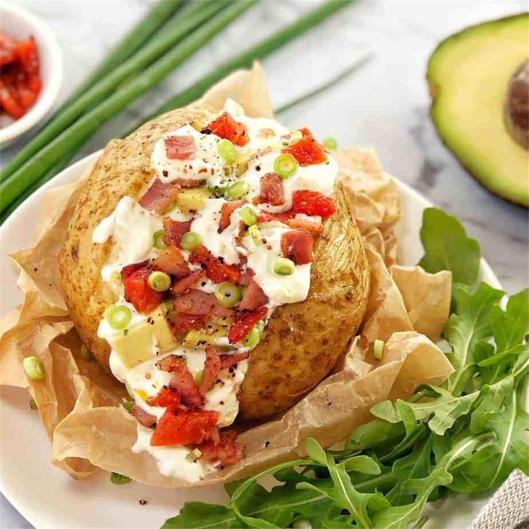 Turkish Style Stuffed Baked Potato