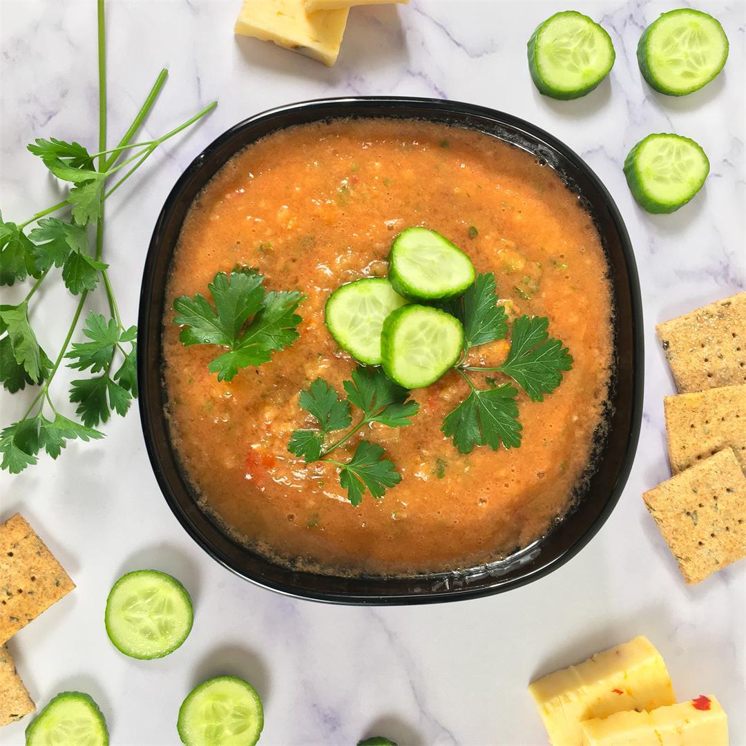 Vegan Gazpacho (Raw Soup Recipe)