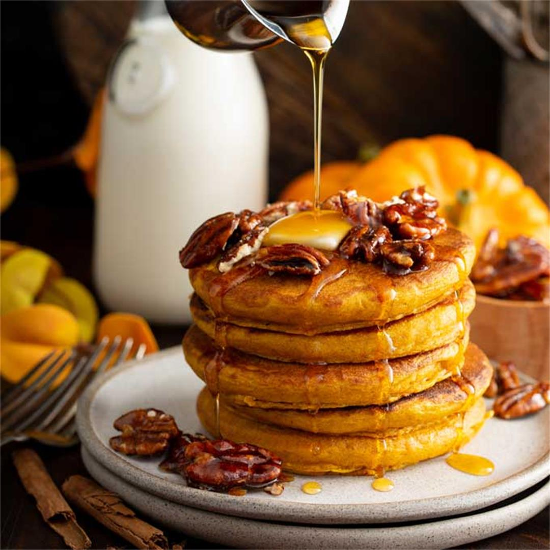 The Best Pumpkin Pancakes