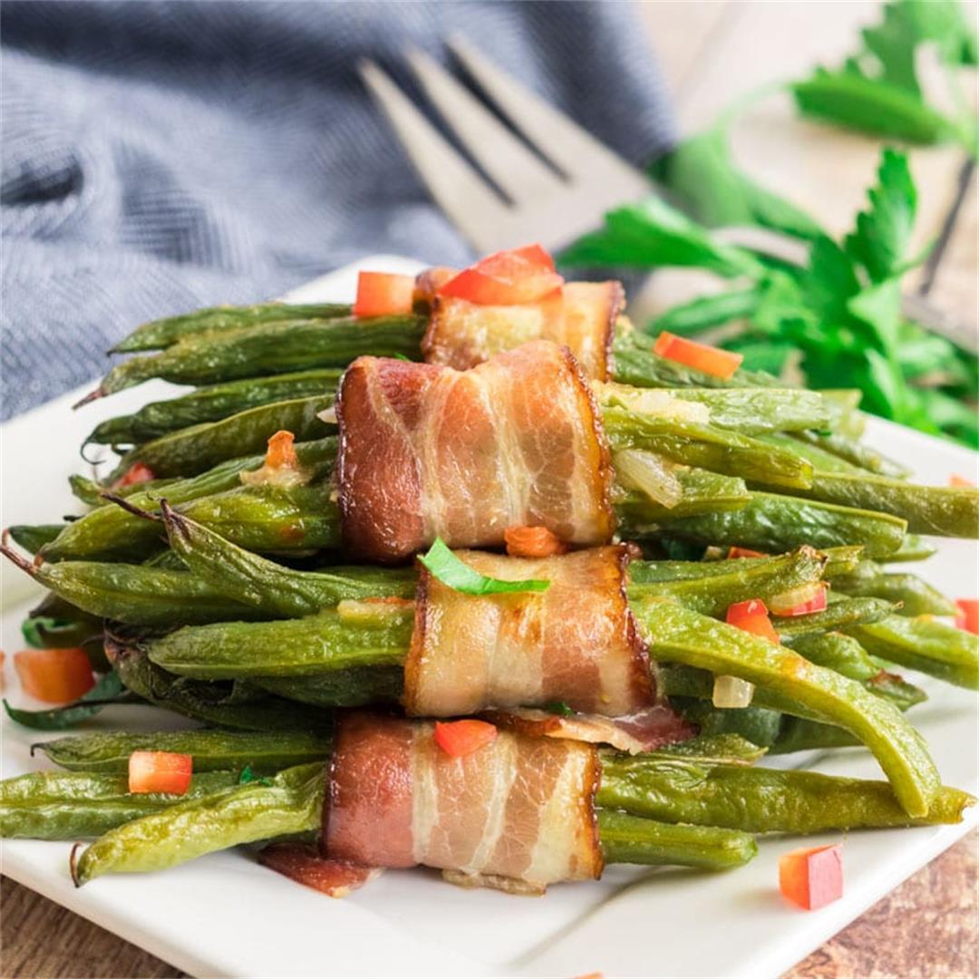 Bacon-Wrapped Green Bean Bundles