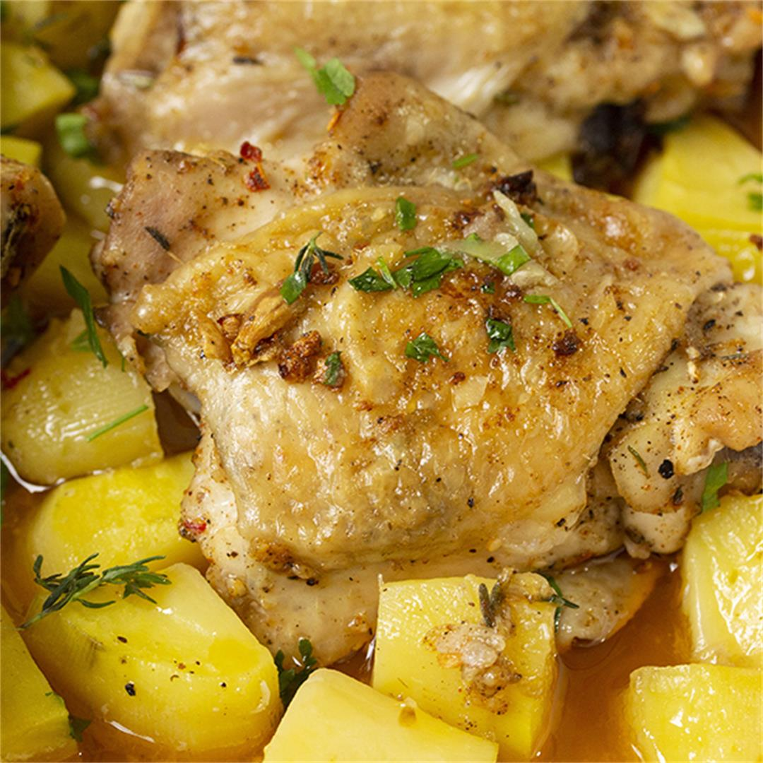 One Pan Chicken And Potatoes Recipe-Healthy life Trainer
