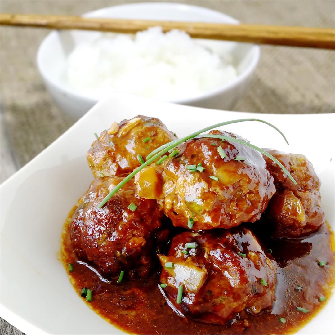 Sweet and Sour Orange Meatballs