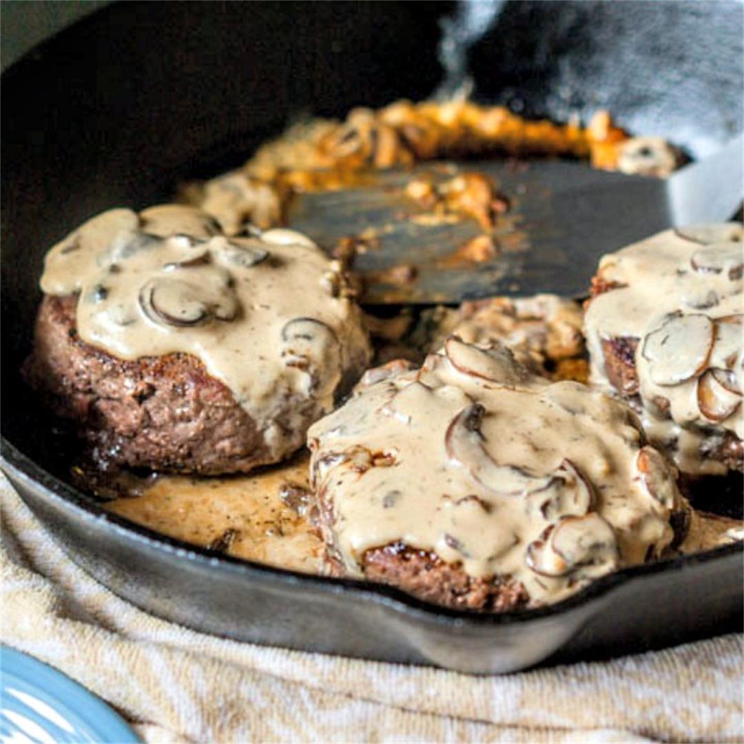 Creamy Keto Burgers with Mushroom Sauce
