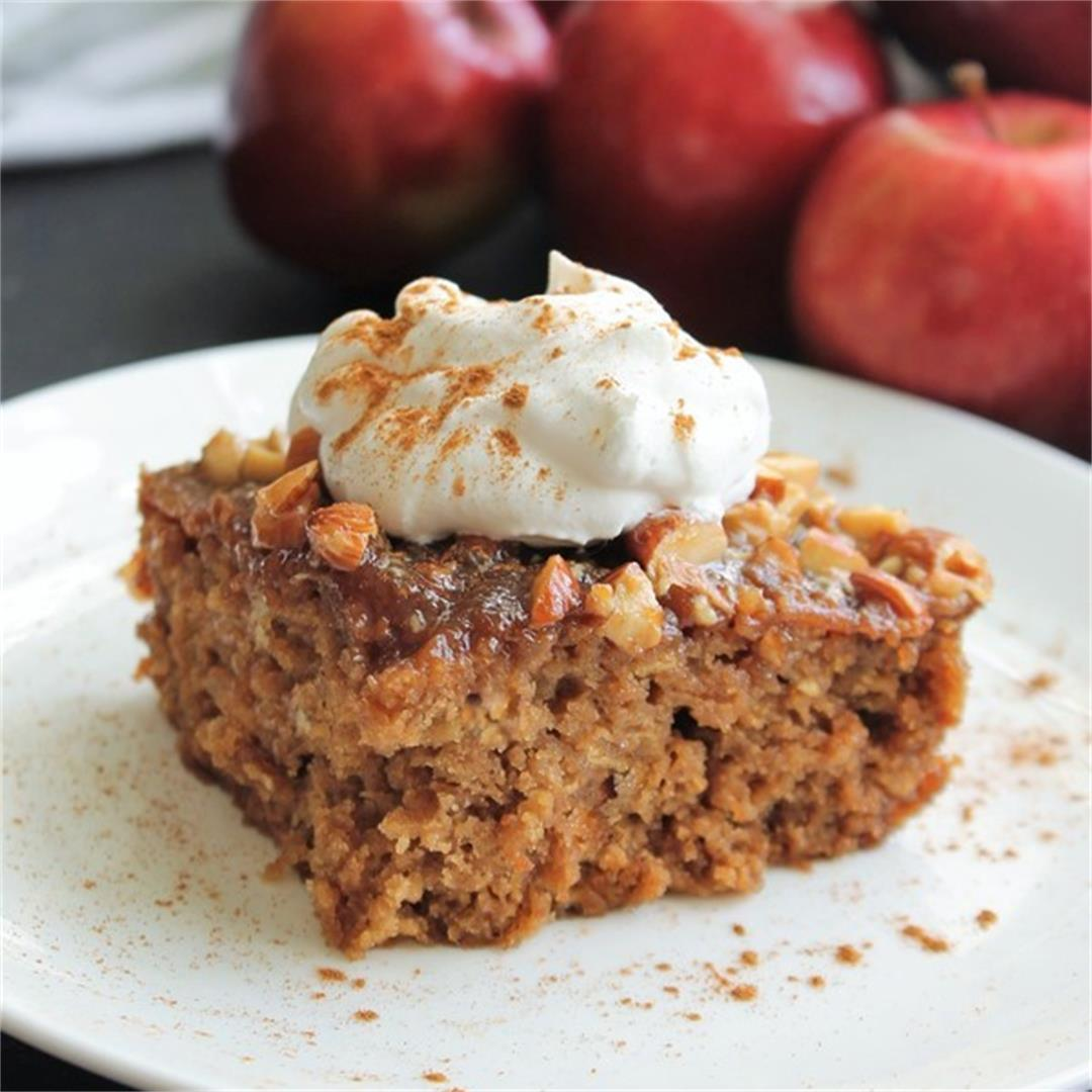 Oatmeal Honey Apple Cake (A Lighter Recipe) – My Recipe Reviews