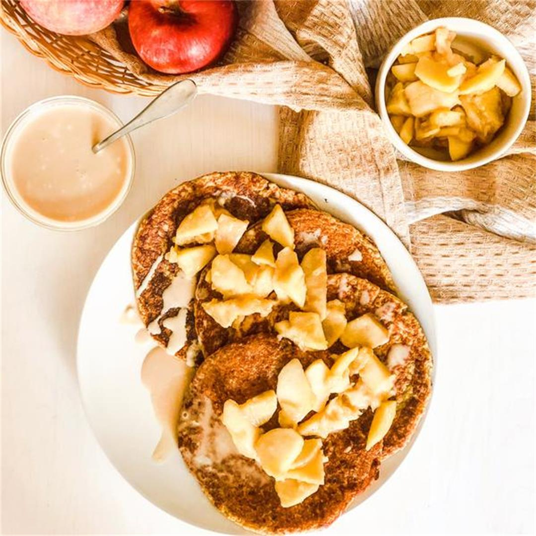 Apple & Caramel Pancakes