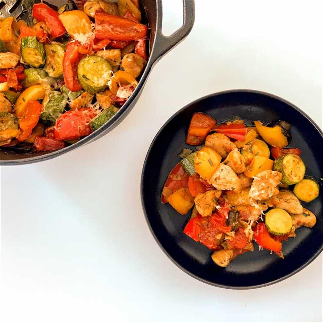 chunky ratatouille with chicken