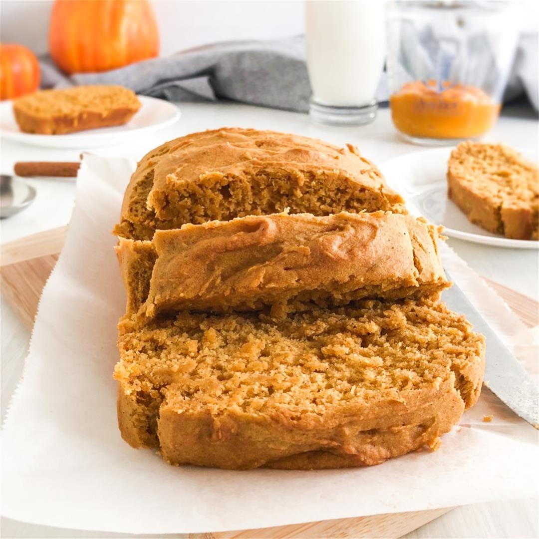 Vegan+Gluten-Free Pumpkin Spice Bread