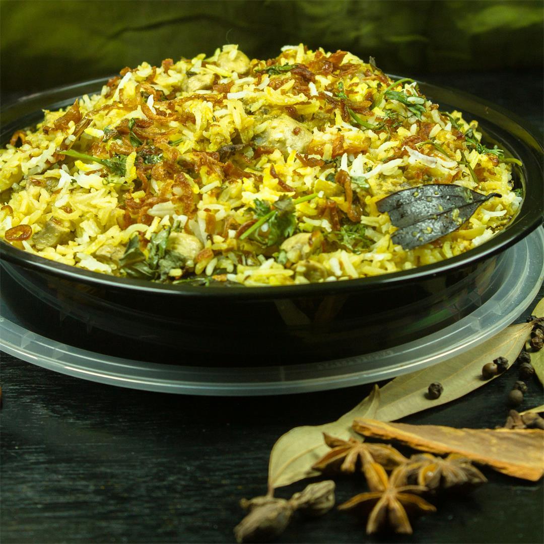 Mushroom Biryani – Dum Style – Food Opium