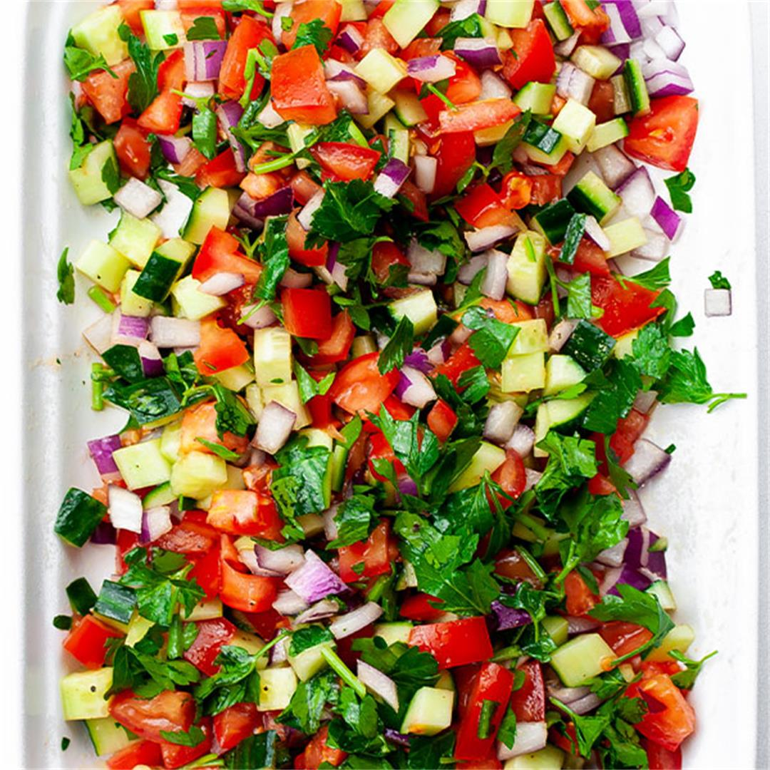 Tomato Cucumber Salad - Easy Cucumber Salad Recipe - Key To My