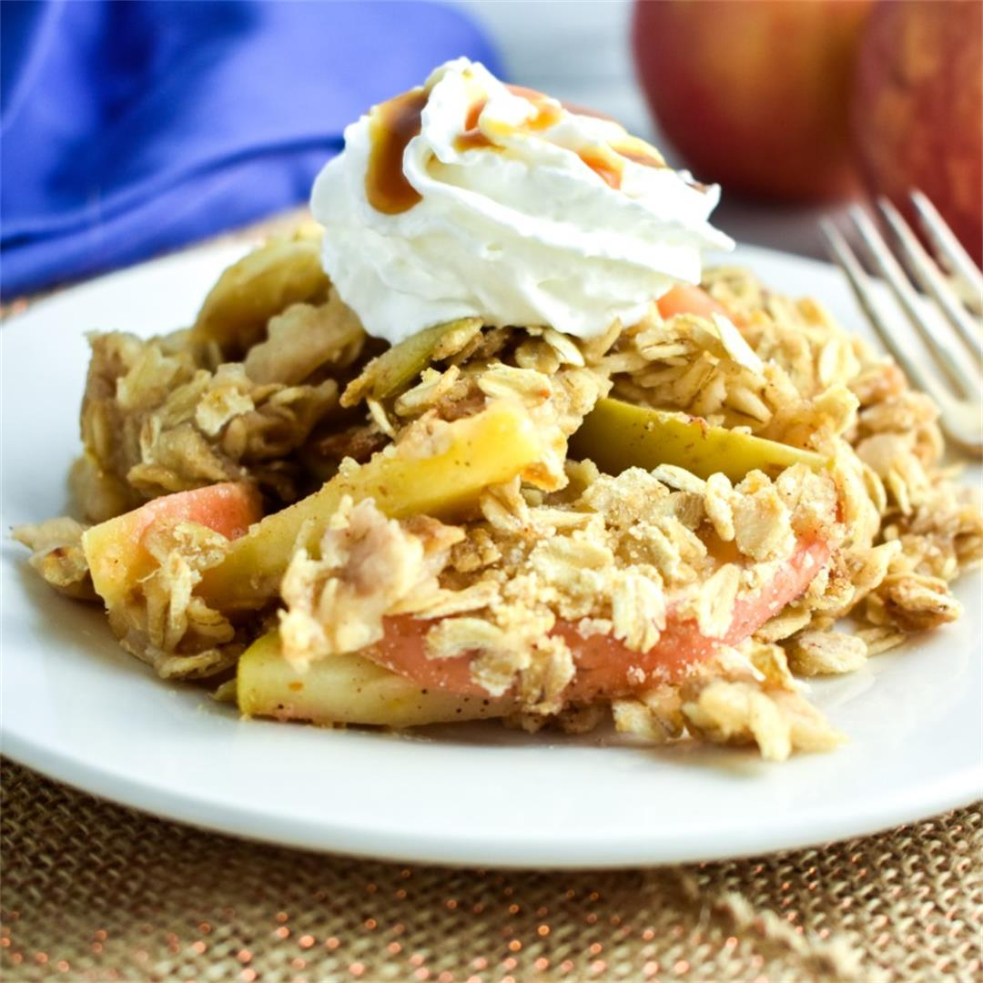Mom's Healthier Apple Crisp