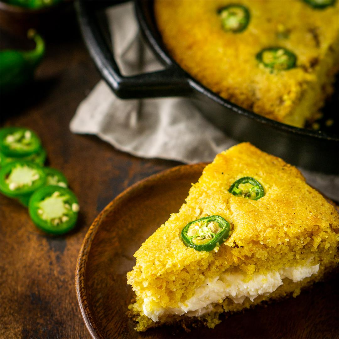 Jalapeno Popper Cornbread With Whipped Cream Cheese Butter