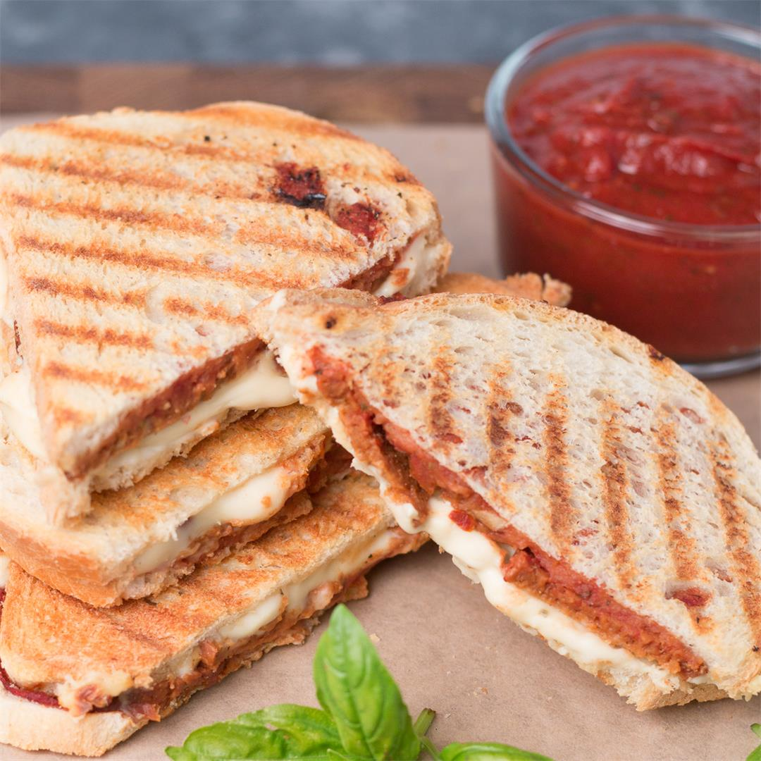 Vegan Pepperoni Pizza Panini