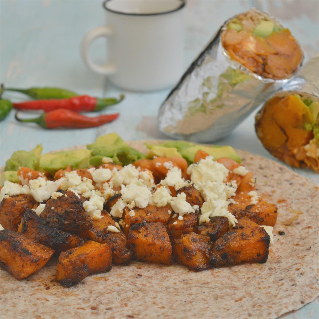 Harissa Roasted Pumpkin Burrito