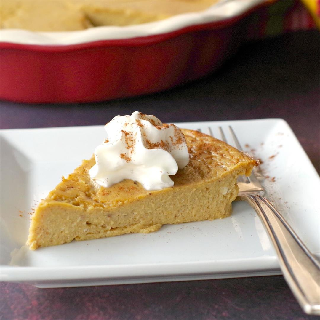 Weight Watchers Crustless Pumpkin Pie