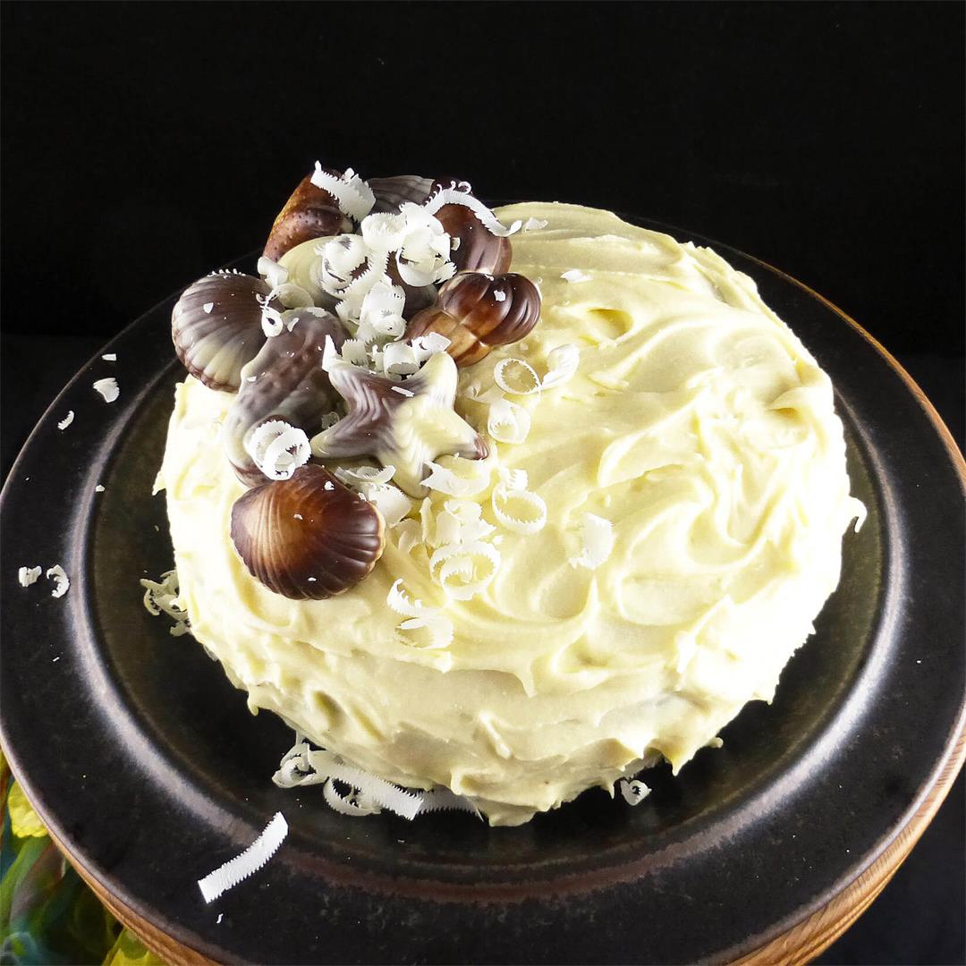 White Chocolate Mud Cake with Whipped White Chocolate Ganache